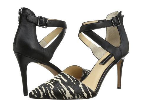 Steven - Alicia (Black/White Pony) Women's Shoes