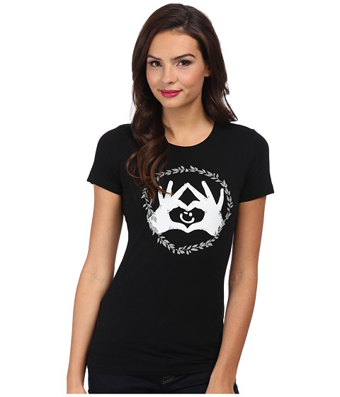 Delivering Happiness - Winkey Love Tee (Black/White) Women