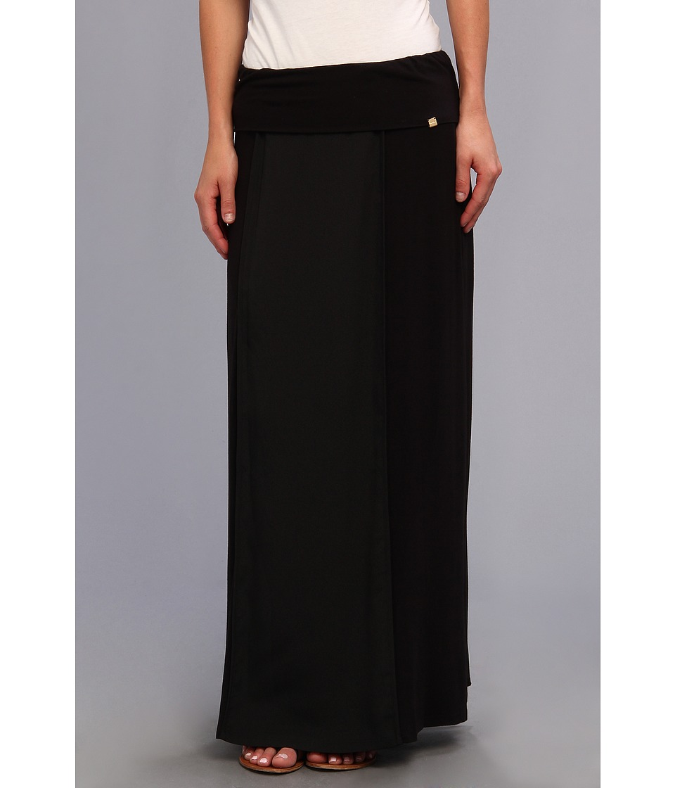 Calvin Klein - Flanged Maxi Skirt (Black) Women's Skirt