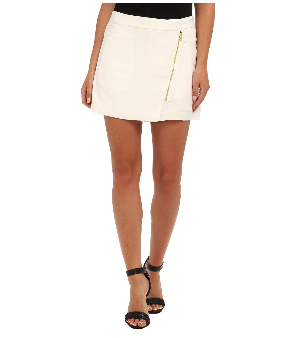 Calvin Klein - Moto Shorts w/ Zips (Soft White) Women's Shorts