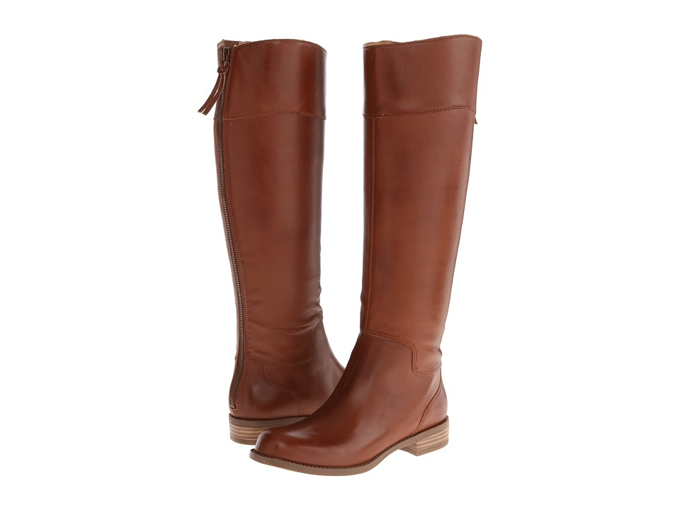 Nine West - Counter (Dark Natural Leather) Women's Zip Boots