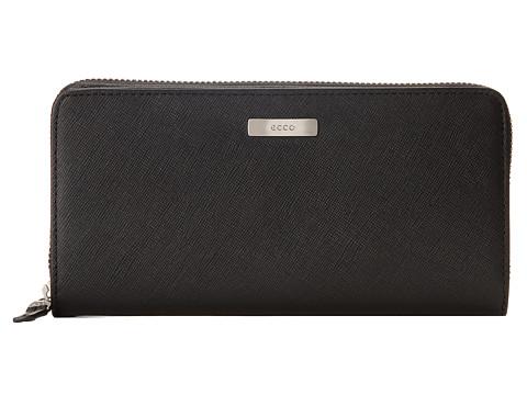 ECCO - Firenze Large Zip Wallet (Black) Wallet Handbags