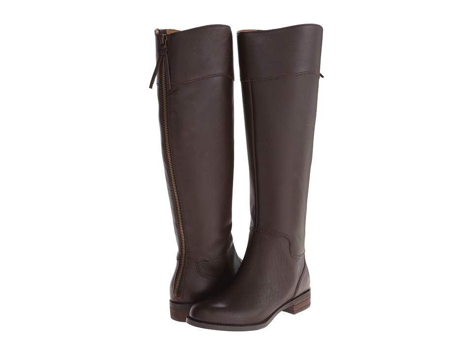 Nine West - Counter Wide Calf (Dark Brown Leather) Women's Zip Boots