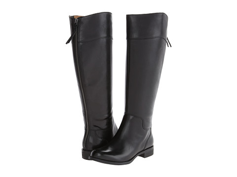 Nine West - Counter Wide Calf (Black 2 Leather) Women's Zip Boots
