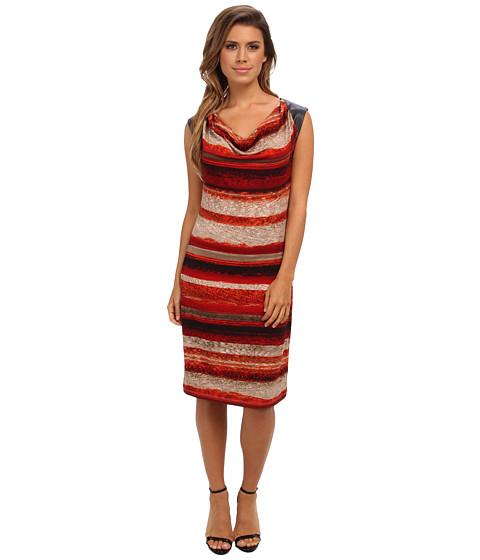 Calvin Klein - Sleeveless Dress w/ PU Shoulder (Eggshell Combo 2906) Women's Dress