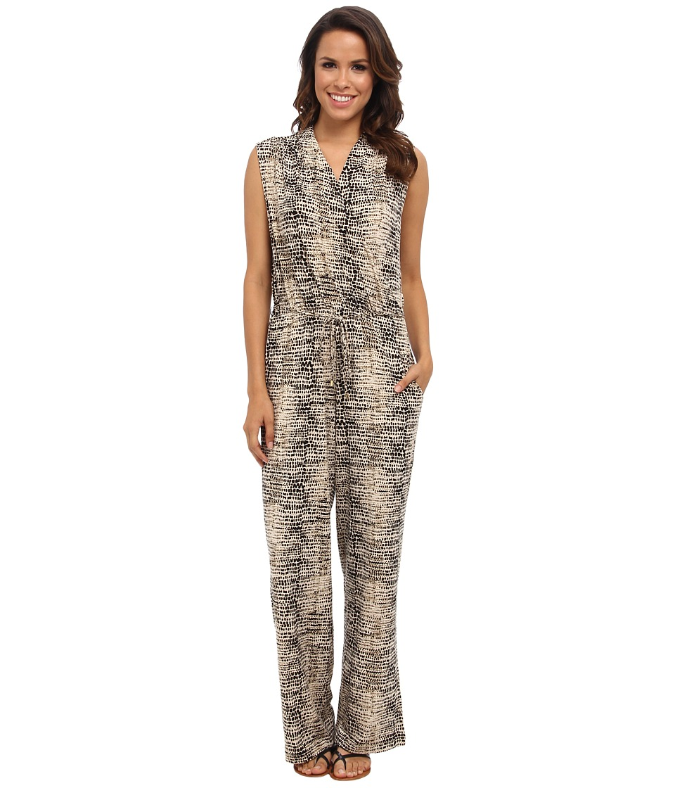 Calvin Klein - Printed Surplus Jumpsuit (Black/Light Latte Multi 1186 Washed P) Women's Jumpsuit & Rompers One Piece