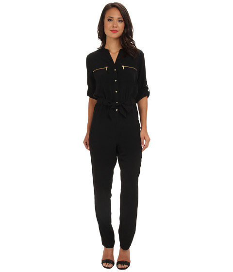Calvin Klein - Roll Tab Jumpsuit (Black) Women