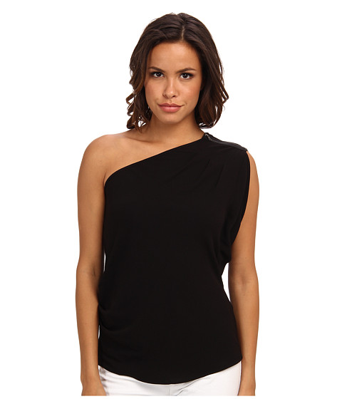 BCBGMAXAZRIA - Carli Sleeveless One Shoulder Top (Black) Women
