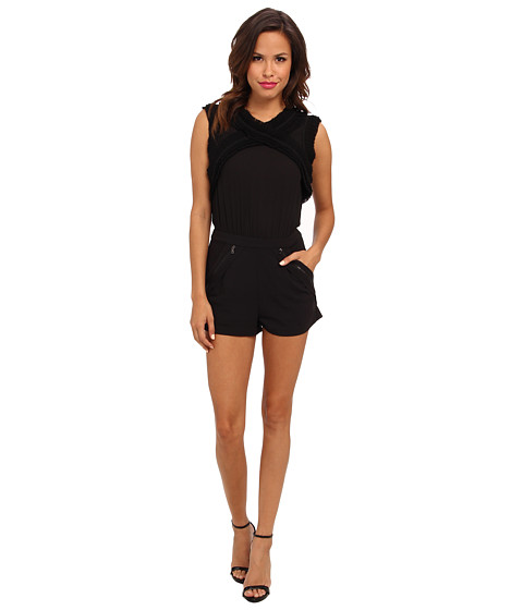 BCBGMAXAZRIA - Lexxi Romper (Black) Women's Jumpsuit & Rompers One Piece