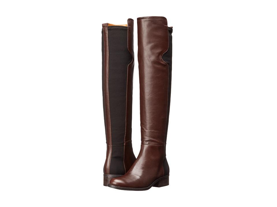 Nine West - Pristeen (Dark Brown/Black Leather) Women