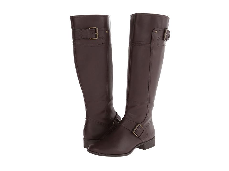 Nine West Vermillion 3 Dark Brown Synthetic Dress Boots