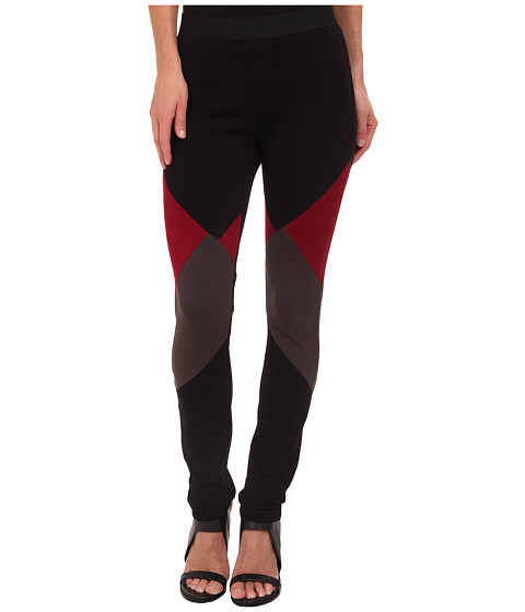 BCBGMAXAZRIA - Jude Legging (Black/Deep Cranberry) Women's Clothing