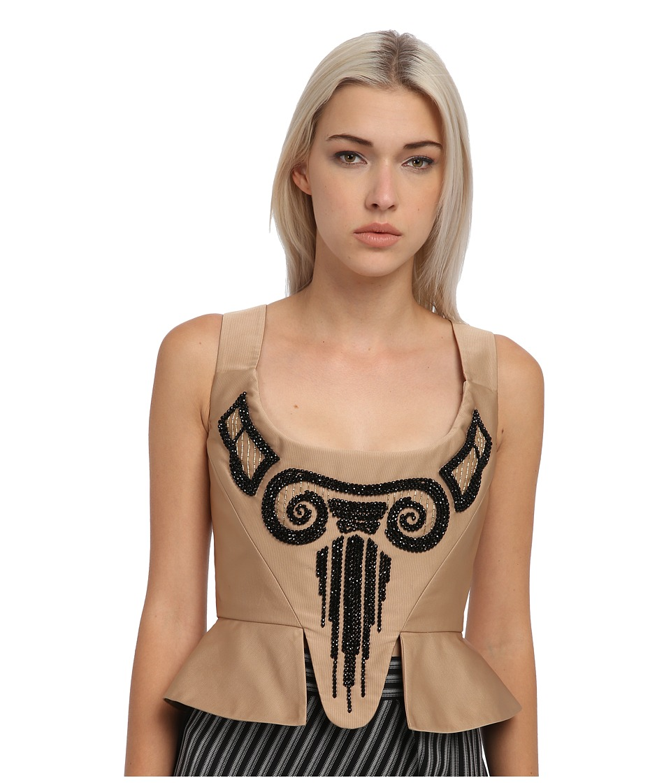 Vivienne Westwood Red Label - Beige Bustier w/ Beads (Camel) Women