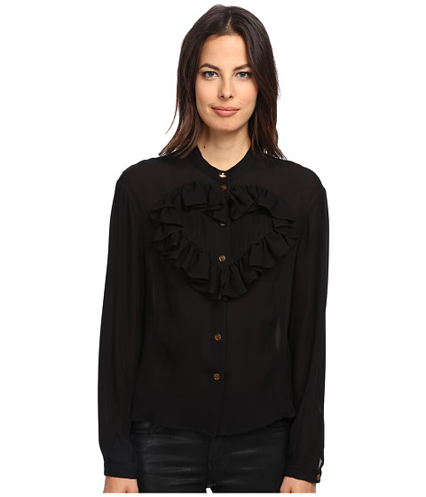 Vivienne Westwood Red Label - Silk Blouse w/ Heart (Black) Women's Blouse