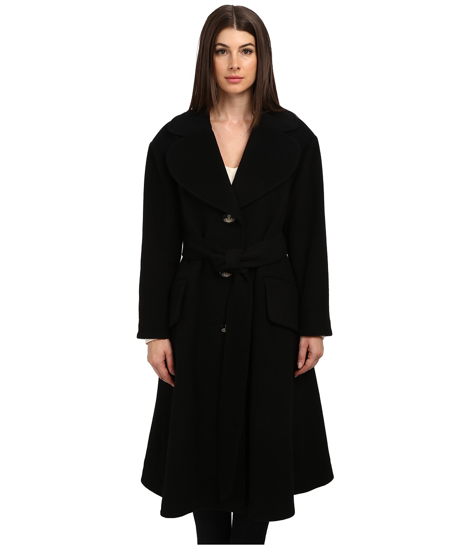 Vivienne Westwood Red Label - Tie Front 3/4 Trench Coat (Black) Women
