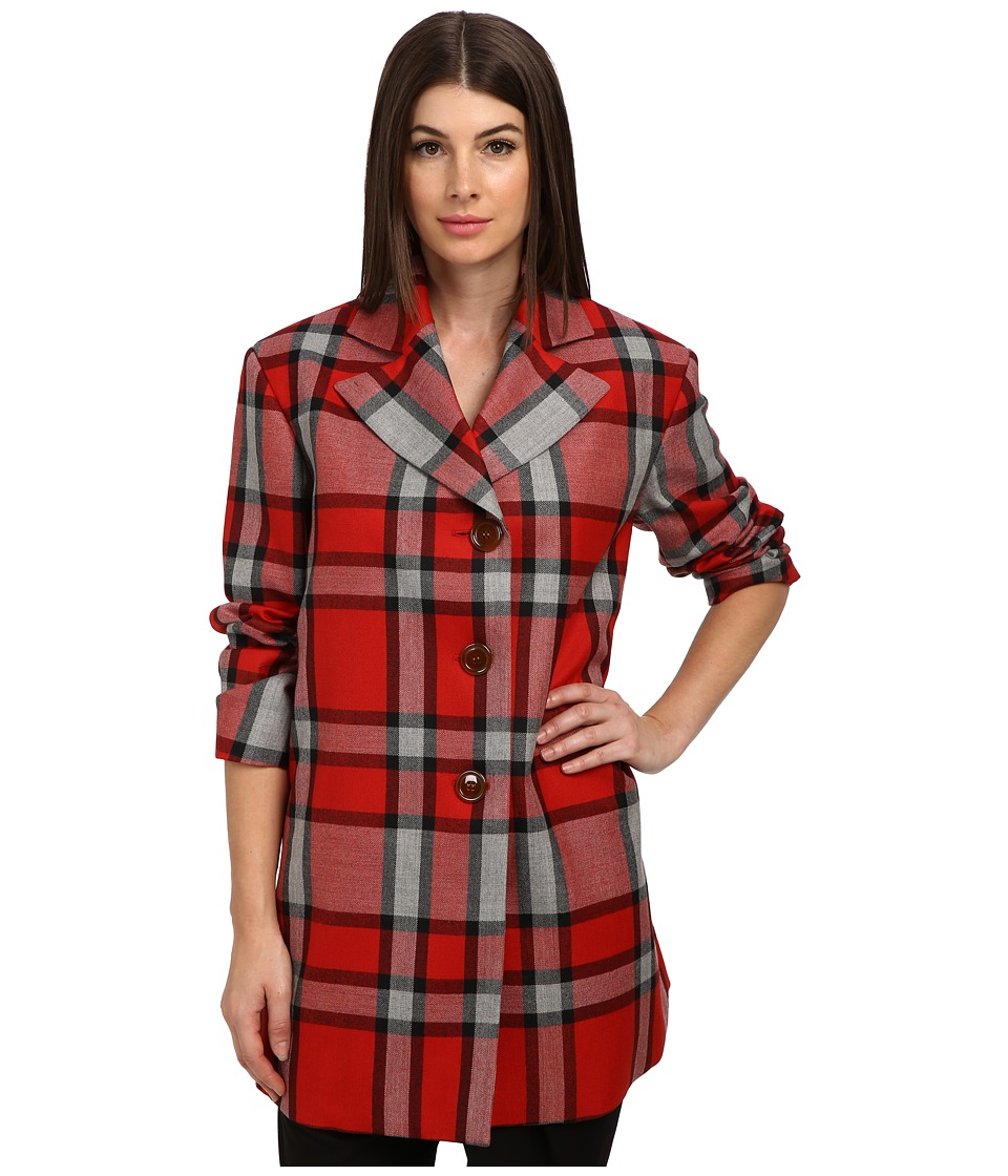 Vivienne Westwood Red Label - Plaid Oversize Coat (Red) Women's Coat