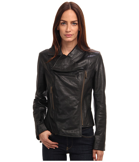 Vivienne Westwood Red Label - Leather Jacket (Black) Women's Coat