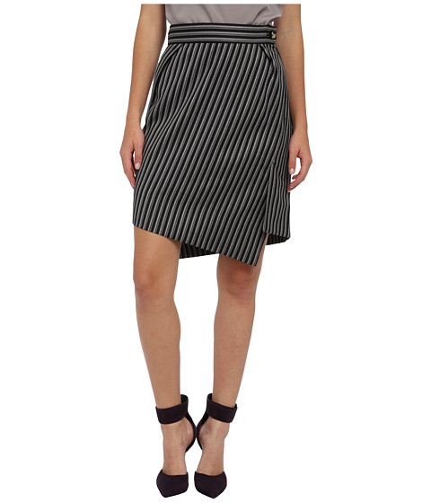 Vivienne Westwood Red Label - High Low Striped Skirt (Black/White) Women