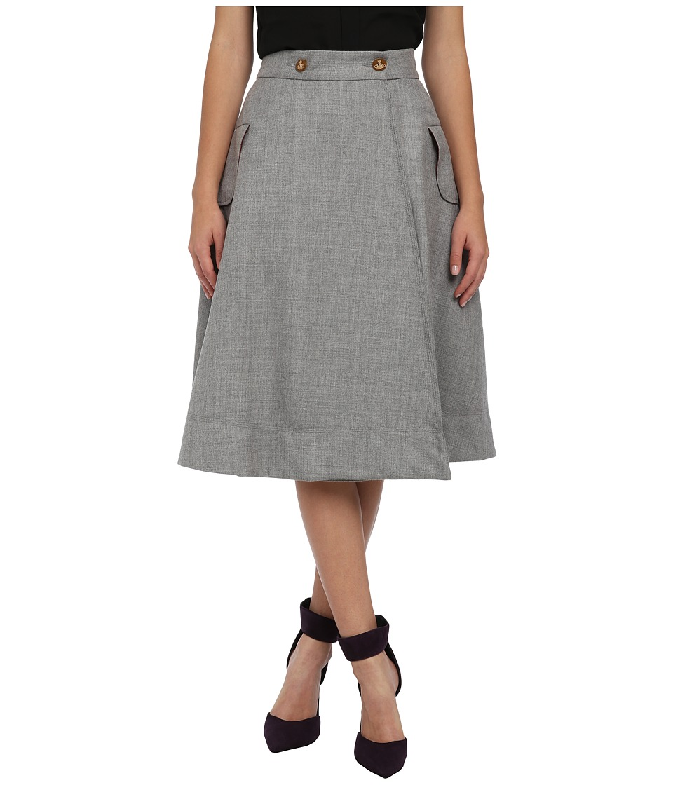 Vivienne Westwood Red Label - Full Skirt (Grey) Women's Skirt