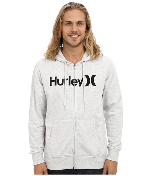 Hurley - One Only Zip Fleece (Heather White) Men