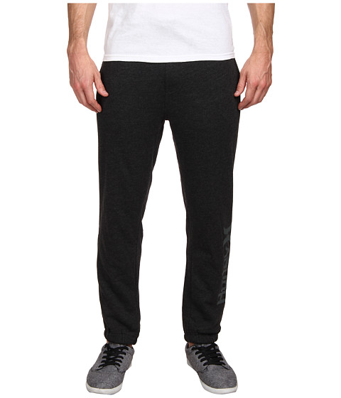 Hurley - Mission Fleece Pant (Heather Black) Men