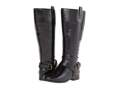 rsvp - Cassidy Extra Wide Calf (Black PU) Women's Wide Shaft Boots