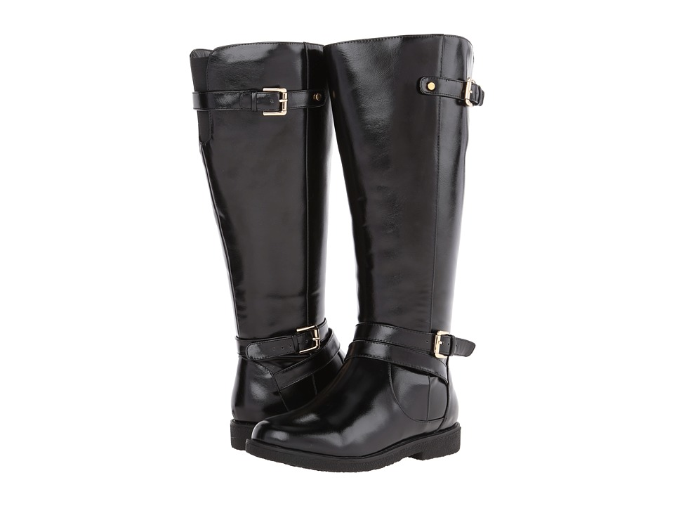 rsvp - Faye Extra Wide Calf (Black PU) Women's Wide Shaft Boots