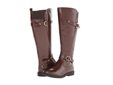 rsvp - Virginia Extra Wide Calf (Dark Brown PU) Women's Wide Shaft Boots