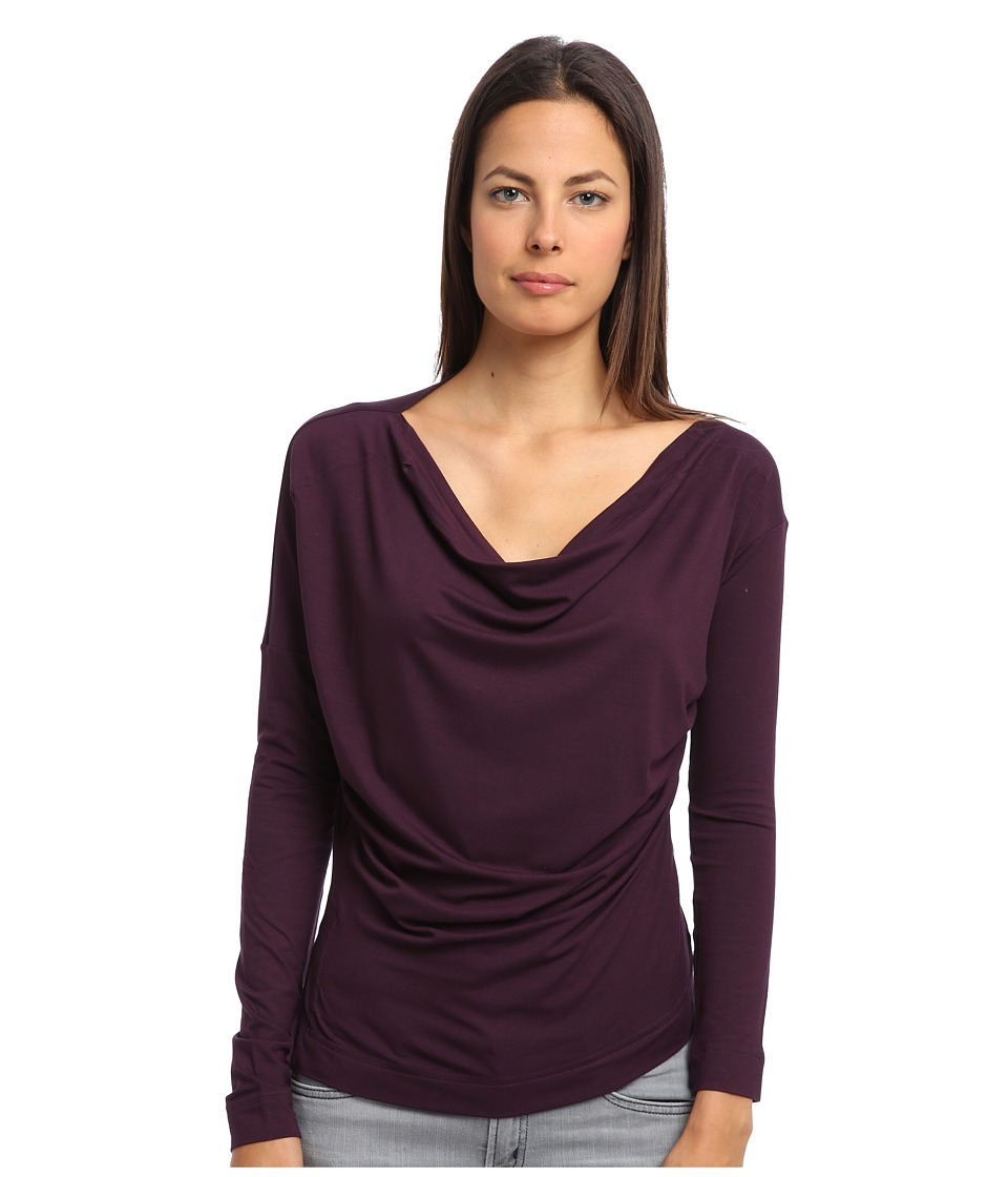 Vivienne Westwood - L/S New Drape Top (Aubergine) Women's Clothing