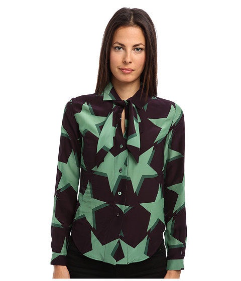 Vivienne Westwood Anglomania - Approval Shirt (Aubergine) Women's Long Sleeve Button Up