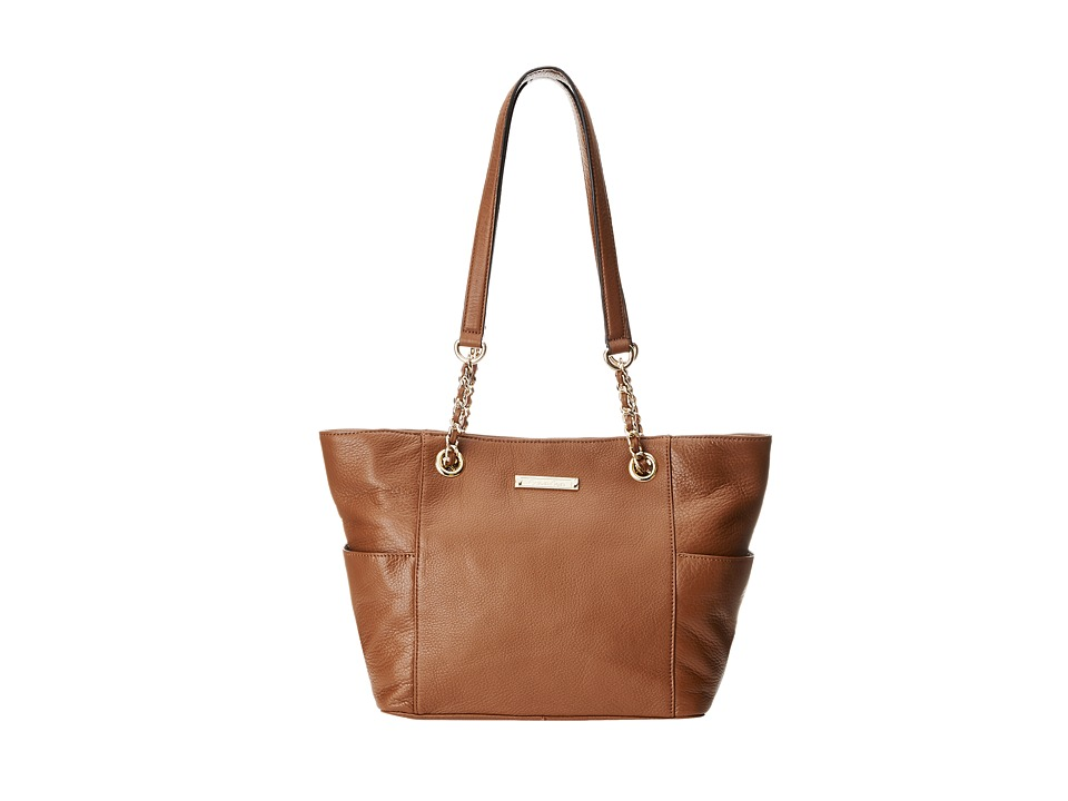 Calvin Klein - Key Item Leather Tote (Luggage) Tote Handbags