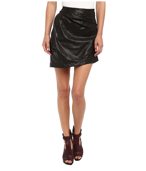 Vivienne Westwood Anglomania - Leather Isolation Skirt (Black) Women