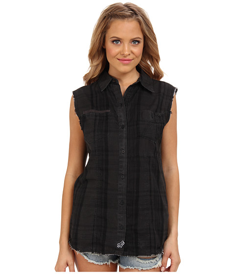 Fox - Shadow Sleeveless Shirt (Black) Women's Sleeveless