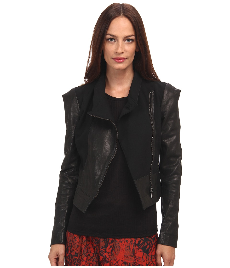 Vivienne Westwood Anglomania - Leather State Jacket (Black) Women's Coat