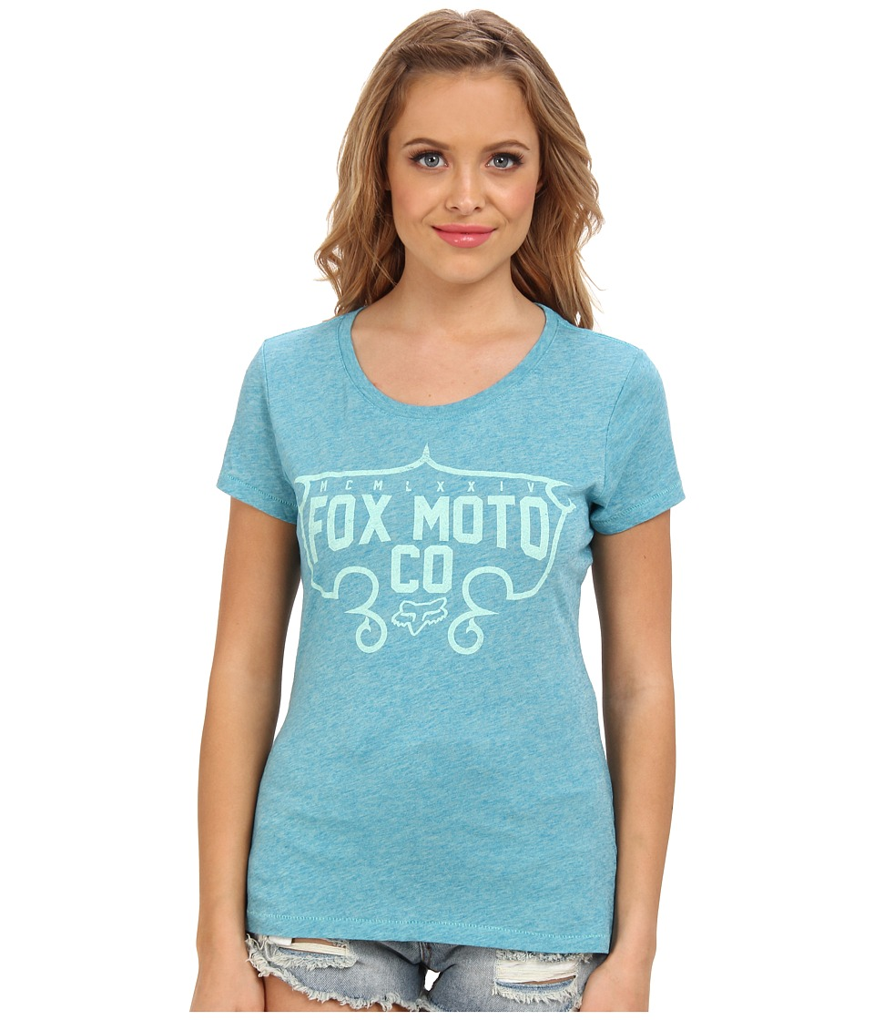 Fox - Exhilarate Crew Neck Tee (Indigo) Women's Short Sleeve Pullover