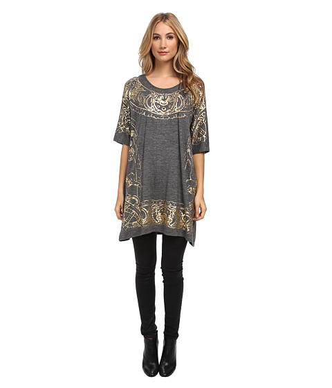 Vivienne Westwood Anglomania - Big Satyr Frame T-Shirt (Gold Satyr Grey) Women's T Shirt