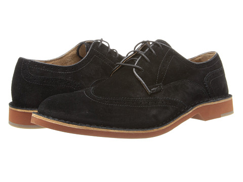 Fitzwell - Batty (Black Suede) Men's Lace Up Wing Tip Shoes