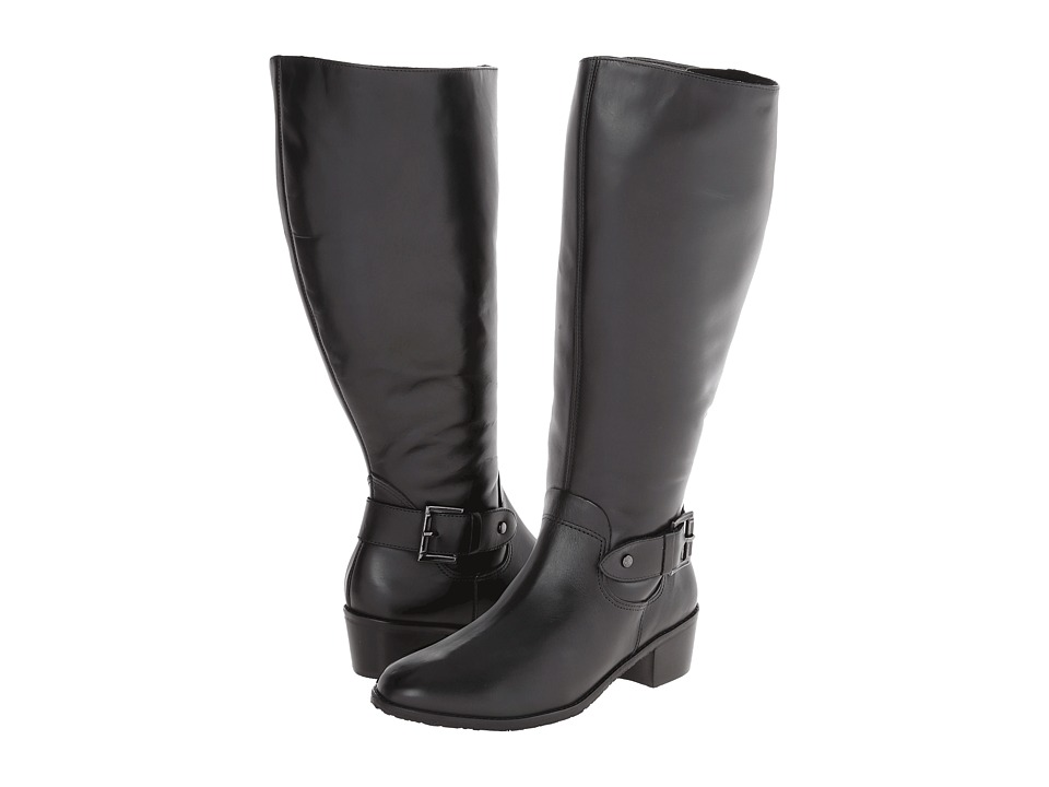 Rose Petals - Chelsea (Extra Wide Calf) (Black Soft Antiqued Leather) Women's Boots