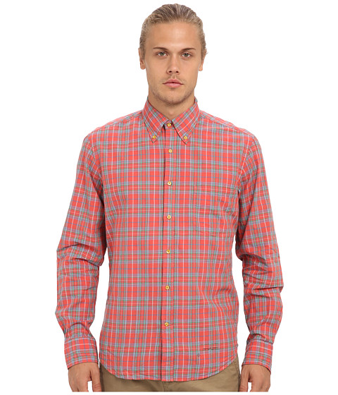 Gant Rugger - R. Winter Madras E-Z Original Button Down (Afrodite Red) Men