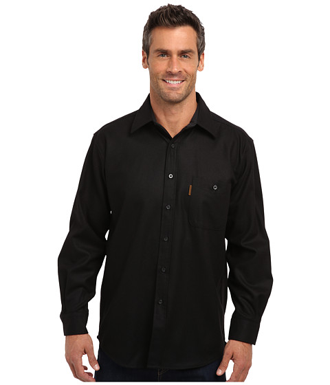 Pendleton - L/S Trail Shirt w/ Elbow Patch (Black) Men