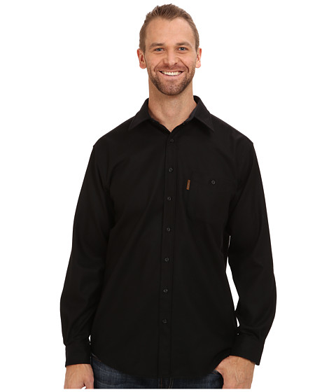 Pendleton - L/S Trail Shirt w/ Elbow Patch (Tall) (Black) Men's Long Sleeve Button Up
