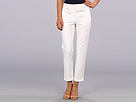 Adrianna Papell Medium Rise Slim Fit Trouser w/ Vertical Pocket Detail (White)