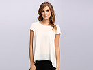 Adrianna Papell Sleeveless Pleated Back Blouse (Ivory) Women's Blouse