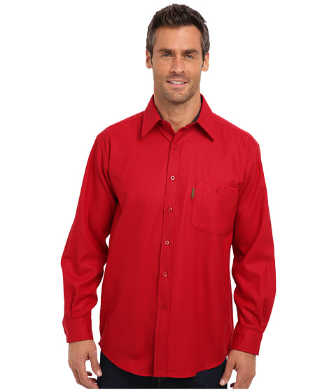 Pendleton - L/S Trail Shirt w/ Elbow Patch (Red) Men's Long Sleeve Button Up