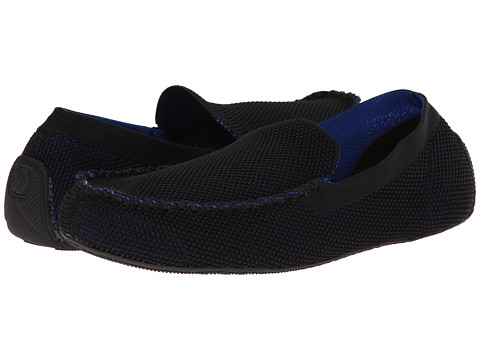 ISOTONER Signature - Mesh Enginereed Driving Moc (Black/Navy) Men's Slippers