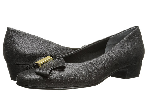 Rose Petals - Briann (Black Sparkle Fabric) Women's Shoes