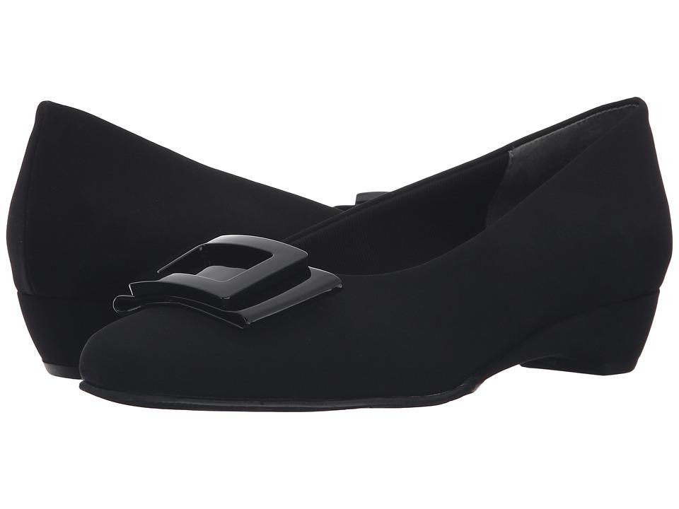 Rose Petals - Brynn (Black Micro/Patent) Women's Shoes