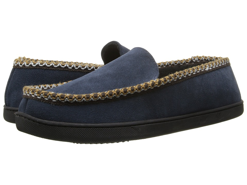 ISOTONER Signature - Suede Braided Moc (Navy) Men
