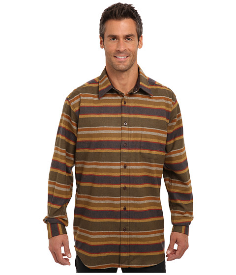 Pendleton - L/S Lodge Shirt (Tall) (Olive Multi Stripe) Men