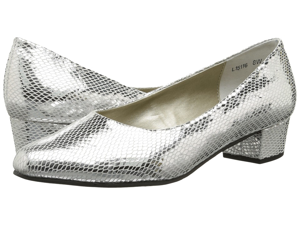 Rose Petals - Emma (Silver Snake Print) Women's Shoes